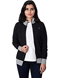 CARBON BASICS All Weather Thin Cotton Waffle Jacket with High Neck Collar & Zipper for Womens & Girls