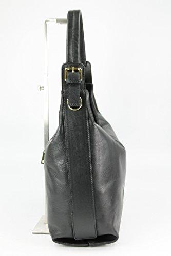Belli , Cabas pour femme cognac Breite: 32cm, Höhe ohne Bügel: 28cm, Tiefe: 15cm noir