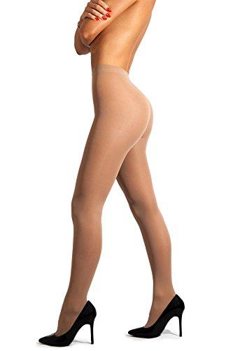sofsy undurchsichtige Microfibre Strumpfhose Unsichtbar verstärkt undurchsichtig Control Top Brief 40Den [Hergestellt in Italy] Natural Beige Nude 4 - (Dollar 10 Kostüme)
