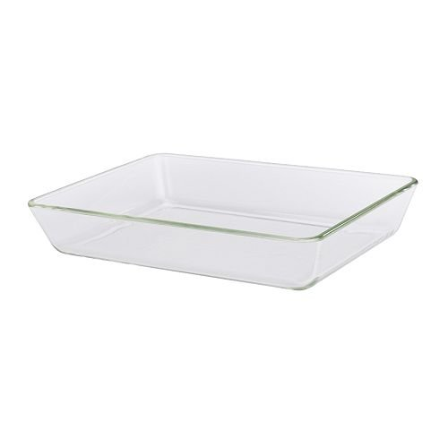 IKEA MIXTUR - Four / un plat de service, verre clair - 35x25 cm