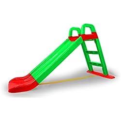 Jamara - Funny Slide / 460502 - Toboggan - Vert - Matériau Durable - Antidérapant - pour des paysages Doux - Larges marches et poignées de sécurité