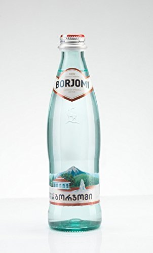 Mineral Kohlensäurehaltige Wasser Borjomi Glitzernd Wasser im Glas Flasche, 0,33 l [Packung von 12]