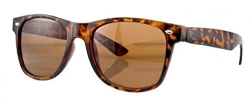 07ed56196e8a4 PURECITY Lunettes de Soleil Style Retro Vintage 80 S Geek Nerd - Monture  Ecaille Tortoise - Verre