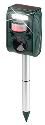 Exbuster Tiervertreiber: Ultraschall-Solar-Tierschreck mit Blitzlicht und Bewegungssensor (Blitzlicht mit Bewegungsmelder) -
