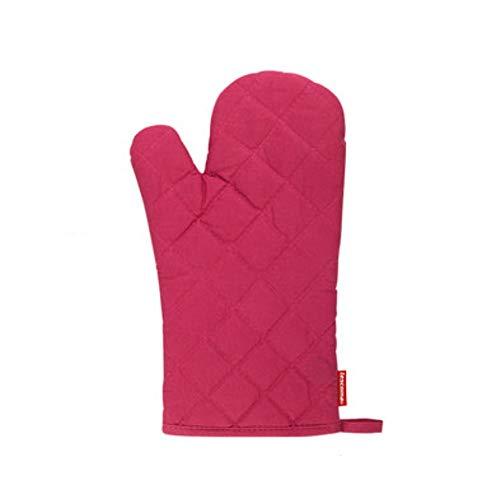 BBQ-Nelken Isolationshandschuhe Hochtemperatur-Verbrühschutzhandschuhe mit Isolationspad Einbrennofen Mikrowelle Verdickungshandschuhe Hitzebeständiges Kochen (Color : Red, Style : Gloves)