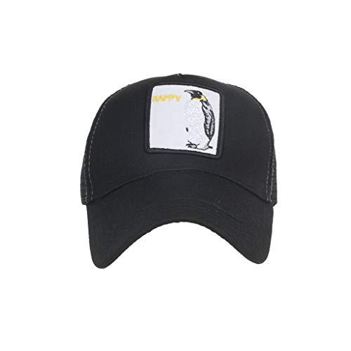 LABIUO Unisex Baseball Cap Neuer Tierstickerei Sonnenhut Verstellbarer Atmungsaktiver Freizeithut(M,Freie Größe)