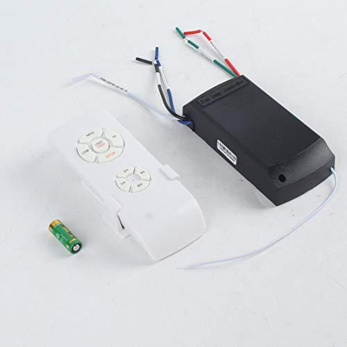 Universal Ceiling Fan Lamp Remote Control Kit 110-240V Timing Wireless Control Switch Adjusted Wind Speed Transmitter Receiverwhite - Fan Control Kit