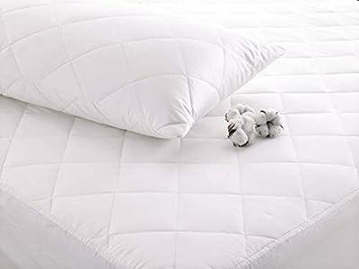 Cuddledown 100% Pure Cotton Mattress Protector, Machine Washable, Anti-Allergy, ALL SIZES