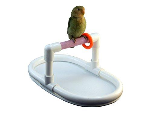FeatherSmart Bird Parrot Table Top Stand Mini Purple 3