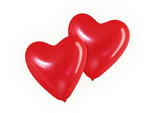 25 große Herzluftballons ROT Umfang 80cm Valentinstag Hochzeit Dekoration LIEBE Herz Luftballons Hochzeitsdeko Ballons Party Verlobung Heiratsantrag Muttertag Geschenke Herzen Deko Herzballons
