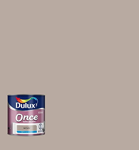 Price comparison product image Dulux Once Matt Paint for Walls,  2.5 L - Soft Truffle