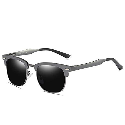 WJP Vollformat-Reisnagel Aluminium-Magnesium polarisierte Sonnenbrille, Männer, die polarisierende Brillengläser Fahren, UV-Schutzbrillen,2,cm