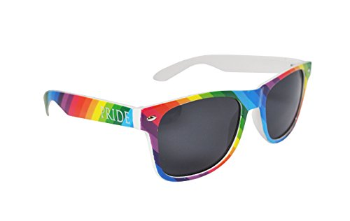 Colourful Gay Pride Drifter Style Sunglasses (1 Pair)