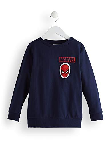 RED WAGON Jungen Marvel Avengers Spiderman Hoody Pullover, Blau (Navy), 116 (Herstellergröße: 6)