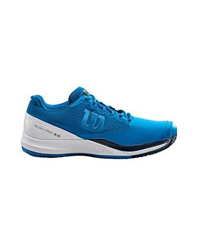WILSON Rush PRO 3.0 Clay, Scarpe da Tennis Uomo, Bianco/Blu, 41 EU
