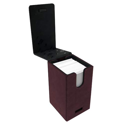Ultra Pro E-85764 - Caja para Cartas (Gamuza), diseño de Torre Alcove, Color Rojo