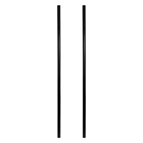 banjado - universell einsetzbarer Briefkastenständer 146,5x3,2x3,2cm | Standfuß Briefkasten Universal schwarz | Ständer 2 Rohre zum Einbetonieren