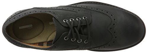Clarks Curington Wing, Brogue Uomo Nero (Black Leather)