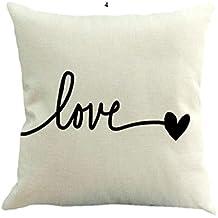 Fundas de Cojines,SHOBDW Regalo de San Valentin Lanzar Funda de Almohada sofá cojín romántico