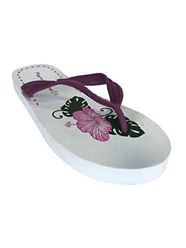 Fornarina Flip-Flops Rubber/Synthetic PEFTA2048 White, Red, Orange Fuxia/White
