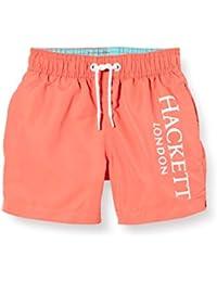 Hackett Logo Volley B Bañador, Naranja (Coral 179), 98 (Talla del Fabricante: K03) para Niños