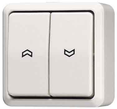 Preisvergleich Produktbild Jung 609VAWW Jalousie-Wippschalter Schalterm, 1-polig