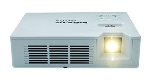 InFocus IN1146 LED Ultra-portable WXGA 16:10 3D DLP-Projektor Beaner (0.8Kg, Wireless, WiFi, USB & SD Kart Speicher, 1000 ANSI Lumens, 10000:1 Kontrast - Led-projektor-1080p-epson