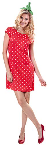 Erdbeer Kostüm - Brandsseller Damen Kostüm Verkleidung für Karneval Fasching Halloween Parties - Erdbeer-Lady S/M