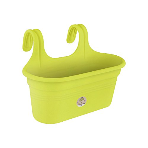 Elho green basics easy hanger balcony planter large - lime green