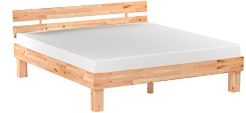 Betten-ABC Bubema Massivholzbett, Kernbuche, geölt, mit Kopfteil, Größe: 180 x 200 cm, Farbe: natur