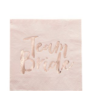 se Gold Junggesellinnenabschied Team Braut Papier Servietten x 16 ? Team Braut ()