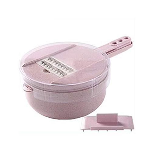 DD/LZY Gemüse Mandolinen Slicer 10 in 1 Gemüse Multifunktions Nahrungsmittelzerhacker Knoblauchschneider Slicer Speedy Chopper Küchenwerkzeug (Color : Pink)