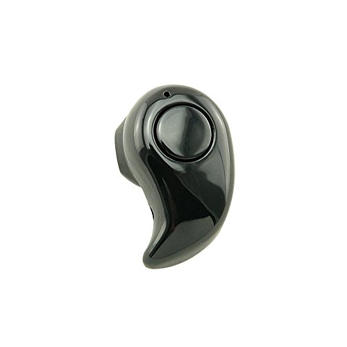 Denshine - Mini auricolare bluetooth, stereo, wireless, colore nero, 1 pezzo