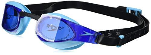 Speedo Unisex- Erwachsene Elite GOG Au Schwimmbrille, Black/Aqua Splash/Blue, one Size