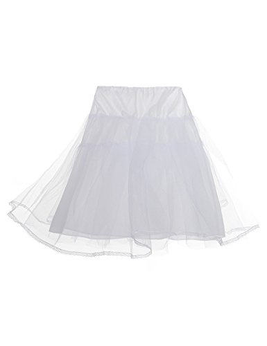 Alicepub Girls Kinder Reifrock Petticoat Unterrock Tüllrock Krinoline Hoopless, (Slip Petticoat Krinoline Kostüme)