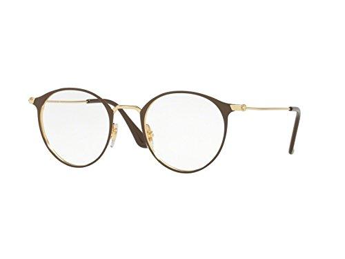 Ray-Ban Unisex-Erwachsene 6378 Brillengestelle, Schwarz (Negro), 49