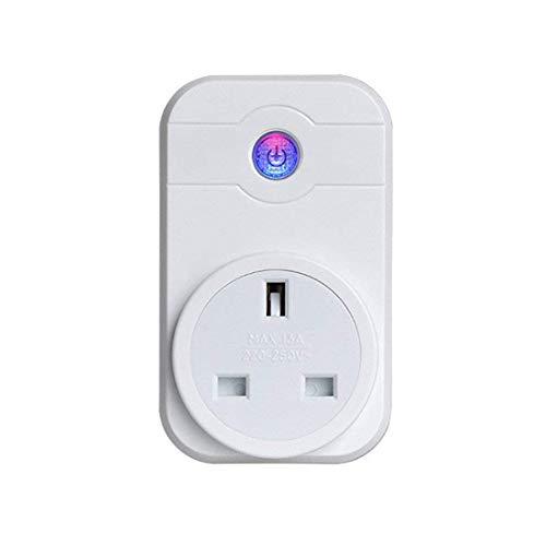 WiFi Smart Plug, liujie Kabelloser Smart-Auslass Fernbedienung WLAN Plug Timer Schalter Steckdose Arbeit mit Alexa und Google Assistant kein Hub erforderlich (One Pack) -