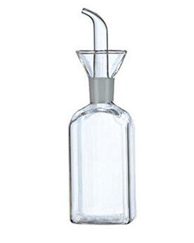 eleton quadratisch Olivenöl Spender Öl Flasche Glas kleckereien Flaschen für Küche-Olivenöl Glas Spender zu kontrollieren Kochen Gemüse Öl und Essig 5 oz farblos 5 Oz Olive Oil Cruet