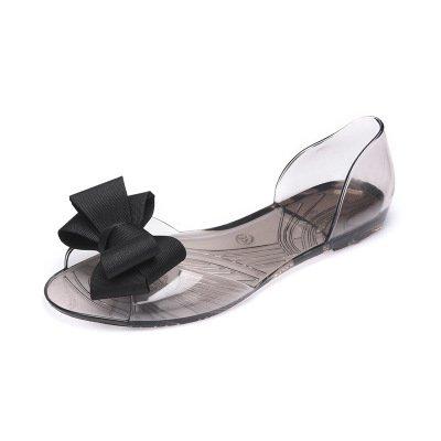 Zormey Sexemara 2017 Sommer Crystal Jelly Schuhe Weibliche Süße Open Toe Flachem Absatz Casual Strand Sandals Wohnungen Frauen Schuhe Mit Schleife S305 7.5