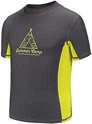 Moon Tree Camiseta de manga larga para niños con protección contra erupciones UPF 50+