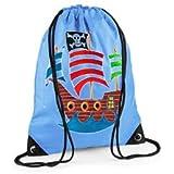 Boys Swim Bag, Boys Gym Bag, Blue PE Bag, Pirate Bag