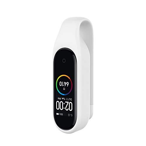 Kcdream Ersatzclip für Xiaomi Mi Band 4/mi Band 3, Xiaomi Band 4 Smart Watch Silikon-Clip Sehr Elegant Dekoriert auf Kleidung, Taschen, Gürtel, Schuhe - Weiß (Watch Clip Auf Gurt)