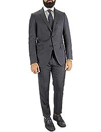 TOMBOLINI Abito da Uomo Invernale Elegante vestibilità Slim Fit Modello  Monopetto in Lana Tinta Unita con b6736b69821