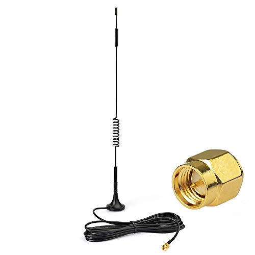 Eightwood 868mhz-4G Antenne 7dbi SMA Stecker Signal Booster mit 3m RG174 Kabel für 4G LTE Wireless Homematic CCU2 CC1101 Netgear Fibaro System Home Center 2 Netgear TP-Link Dlink Belkin Huawei MEHRWEG 3-input Und Tor