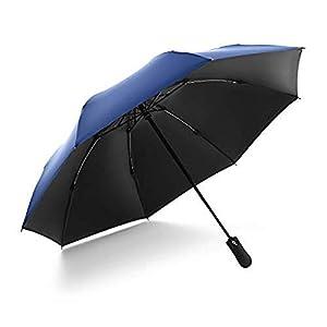 Paraguas plegable automático reversible, paraguas