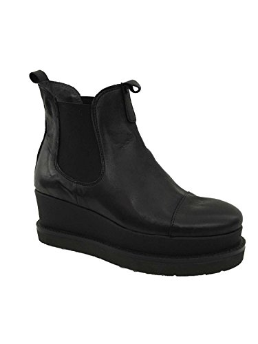 UNLACE scarpa donna nera mod 3182 100% pelle suola gomma made in ITALY tg.36