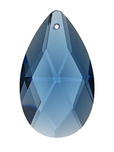 Cristal bleu saphir de style salzbourgeois (amande) qualité k9, hauteur 38mm