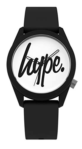 Hype Black and White Script Watch Best Price and Cheapest