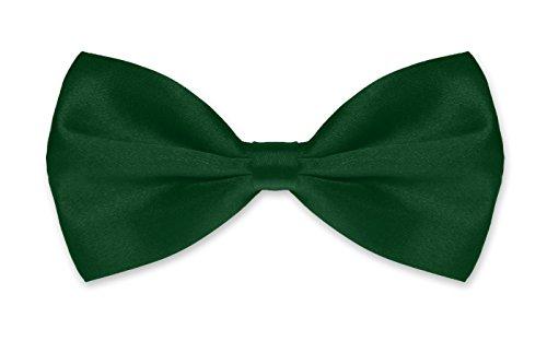 Autiga ® Fliege Herren Hochzeit Konfirmation Anzug Smoking Schleife Schlips verstellbar dunkelgrün