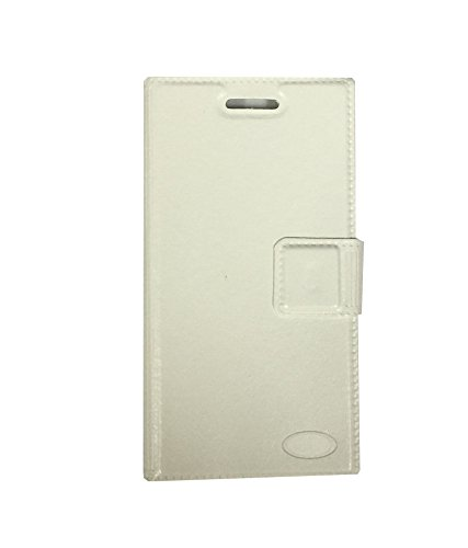 Zocardo Faux Leather Flip Case Flip Diary Cover For Spice Mi-498 Dream Uno Android One -White with Stand , Magnetic Lock  available at amazon for Rs.399